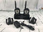 Cobra Two Way Radios Model Frs110 W/charging Stand + Belt Holsters