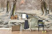 3d Forest Freeze Winter Self-adhesive Removeable Wallpaper Wall Mural Sticker 36