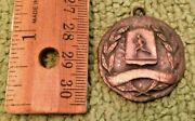 Antique Mile Run Medal Collectible Display Primitive Track And Field Marathon