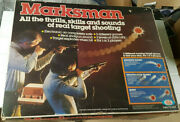 Marksman Vintage 1979 Light Shot Ideal Toys Projector Game + Box Vg Content Rare