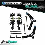 10pc Front Struts Upper Control Arms Tie Rod Sway Bar For 07-17 Compass Patriot