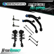 10pc Front Struts Lower Control Arms Tie Rods Sway Bar For 01-04 Town And Country