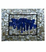 18 Mother Of Pearl And Lapis Lazuli Wall Panel Coffee Table Pietra Dura Victorian