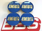 New Real Bbs Blue Gold 3d Logo 4 Tab 70mm Center Caps 56.24.132 Or 56.24.120