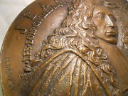 Domat Jurist 17th 1625 Bronze 203mm French Medal By Dropsy Justice
