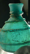 Chinese Tang Dyn.translucent Green Glass Dragon Perfume Bottle-with Translation