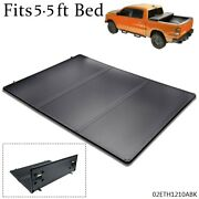 5.5ft Short Bed Lock Solid Hard Tri-fold Tonneau Cover Fit 2015-2018 Ford F-150