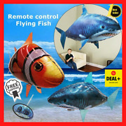 Air Swimmers Remote Control Flying Shark / Clownfish Nemo Balloon Week Toy Gift