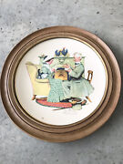 Gorham Norman Rockwell Winter Gaily Sharing Vintage Times Decorative Wall Plate