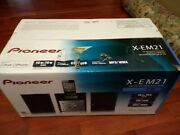 Pioneer X-em21 Cd Receiver System Ipod Iphone Dock W/ Speakers And Remote