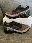 Nike Air Vapormax Flyknit 2 Womenand039s Sz 6 Black Racer Pink 942843 015 Multi Color