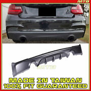 Rear Bumper Diffuser For Bmw 2 Series 14-19 F23 F22 Black Performance Style