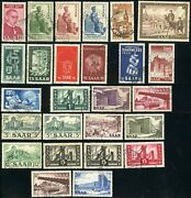 Saar 221-246 French Protectorate Postage Stamp Collection Germany Europe Used