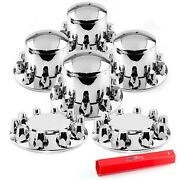 Chrome Truck Hub Cover Wheel Kit Front Rear Axle Cover M22andtimes1.5lug Nut Wtih Tools