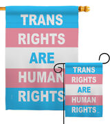 Trans Rights Human Garden Flag Support Pride Decorative Gift Yard House Banner