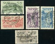 Saar B61-b64 Cb1 French Protectorate Semi Postal Stamp Collection Germany Used