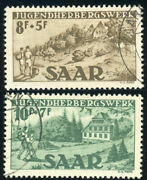 Saar B65-b66 French Protectorate Semi Postal Stamp Collection Germany 1949 Used