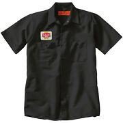 Schmidt Beer Embroidered Patch + Delivery Man Uniform Work Shirt Breweriana