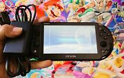 Sony Playstation Ps Vita Slim Pch-2000 Wifi Psv Black Portable Console + Charger
