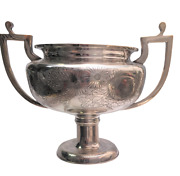 Japanese High Grade Silver Two Handled Bowl / Trophy Bowl