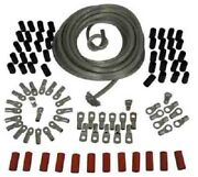 Clear Coated 4 Gauge Battery Cable Builders Kit For Harley