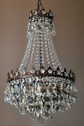 Antique / Vintage Crystal Chandelier And Hand Made Empire Pendant Chandelier Lamp
