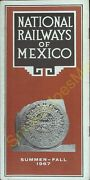 National Railways Of Mexico Summer To Fall 1967 Train Time Schedule And Guide