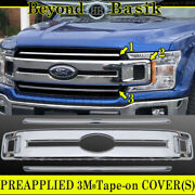 2018 2019 2020 Ford F150xl Model Only Chrome Grille Grill Cover Overlay Insert