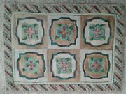 Ar Vintage Primitive Hand Hooked Rug 28 X 20 In By Anne Eastwood Wool Linen Trad