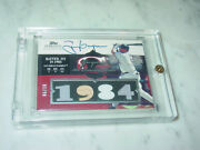 Tony Gwynn 2006 Topps Sterling On Card Auto And 4 Piece Relic Ed 06/10 - Padres