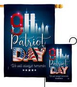 911 Remember Honor Garden Flag Armed Forces Service Decorative Yard House Banner