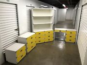 Mcm Vintage Campaign Bedroom Set Desk Dresser Nightstand Canary Yellow White