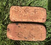 Antique Vintage Bricks 2 Sayre And Fisher Co  Sea Bricks Smooth By Waves And Sand