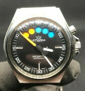 Vintage 1970and039s Lemania Regatta Swiss Made Automatic Flyback Yacht Timer Watch