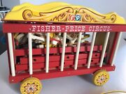 Great 1963 Boxed Fisher Price Wooden Big Performing Circus And Junior Circus