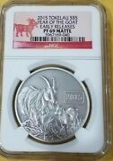 2015 Tokelau S5 Year Of The Goat Ngc Early Releases Pf69 Matte 1oz 999 Silver