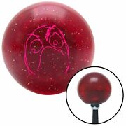 Pink Angry Meme Red Metal Flake Shift Knob Usa Shifter Auto Brody Car Truck Drag
