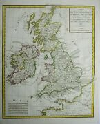 Antique Map Of Great Britain And Ireland By Edme Mentelle 1818