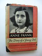 Anne Frank The Diary Of A Young Girl Hc/dj 1952 2nd Printing Illus Endpapers - U