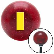 Yellow Ensign Rank Red Metal Flake Shift Knob Usa Shifter Auto Truck Drag Speed