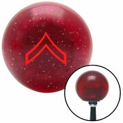 Red 01 Private First Class Red Metal Flake Shift Knob M/t Usa Shifter Trans Car