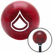 White Private First Class Red Metal Flake Shift Knob M/t Usa Shifter Car Tree Si