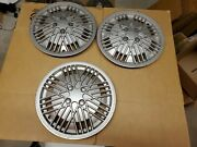 Hubcap Lot Of 3 Vintage 1960and039s/70and039s Wheelcovers Wheel Covers As Shown