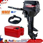 2 Stroke 12hp Outboard Motor Boat Engine W/ Water Cooling Cdi System 169cc Usa