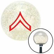 Red Private Clear Metal Flake Shift Knob Usa Shifter Auto Manual Car Stick Trans