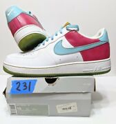 Nike Air Force 1 '07 Low White Paradise Aqua Pink Gold 315122-141 Size 15