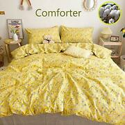 Wellboo Yellow Floral Comforter Sets Women Bedding Sets Flower Queen Branches...