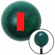 Red Ensign Rank Green Metal Flake Shift Knob Usa Shifter Auto Drag Speed Truck