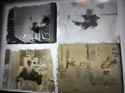 Lot 4 Antique 4x5 Glass Plate Negatives, Family