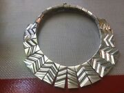 Mexican 970 Sterling Silver Artist Monteros Tm-100 970 Necklace
